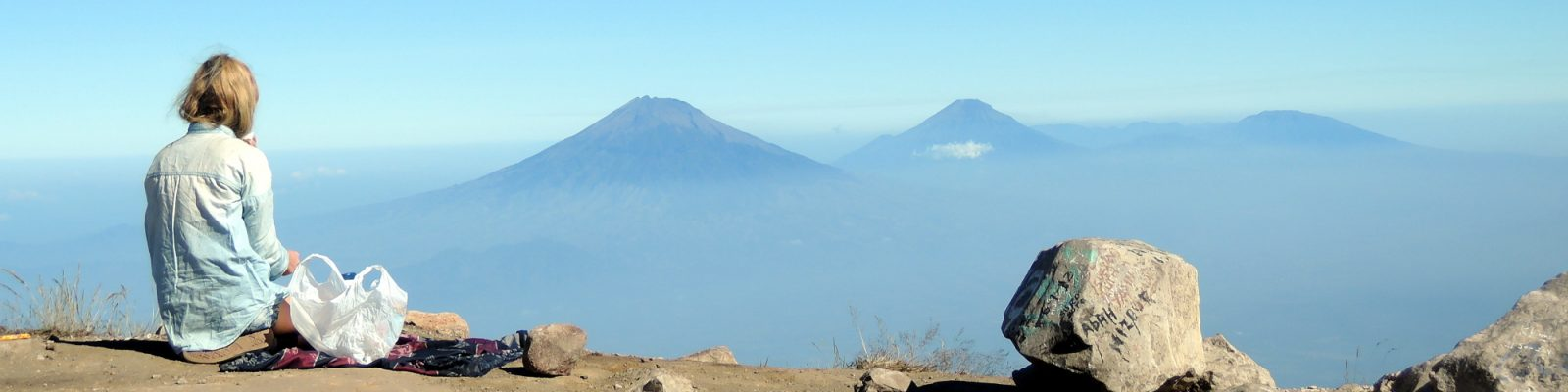 volcano love view from gunung merbabu